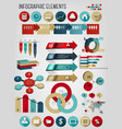 Set of business infographics elements vector image