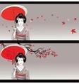 Geisha card vector image