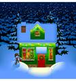 Night Christmas house vector image vector image