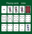 Playing cards Clubs vector image vector image