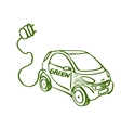 doodle electric car vector image
