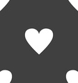 Heart sign icon Love symbol Seamless pattern on a vector image