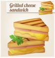 Grilled cheese sandwich Detailed icon vector image