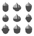 Set of logos city vector image