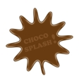choco splash vector image