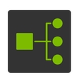 Diagram Icon from Commerce Buttons OverColor Set vector image