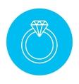 Diamond ring line icon vector image