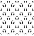 Headphones pattern simple style vector image