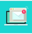 Laptop with browser and envelope vector image
