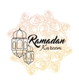 Ramadan kareem and Ramadane vector image