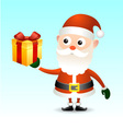 Santa Claus with gift box vector image