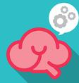 Smile brain work smart vector image