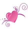 Romantic heart silhouette vector image