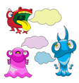 Emotions - monsters vector image vector image