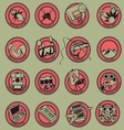 15 Logo Cartoon Hobbies vector image