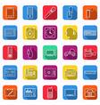 Electronic flat web icons vector image