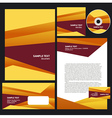 abstract creative corporate identity triagle vector image vector image