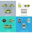 Electric Car Set vector image