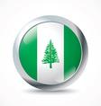 Norfolk Island flag button vector image
