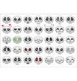 pixel skull smiley icons set vector image