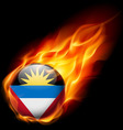 Round glossy icon of antigua and barbuda vector image vector image