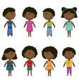 Cute happy African-American kids vector image vector image