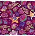 Graphic pattern with seashells sea stars Hand vector image
