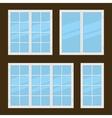 Flat Style Windows Types Set vector image vector image
