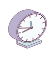 alarm clock minimalist right side vector image