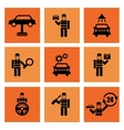 Auto Service Car Mechanic Repair Icons vector image