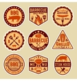 Barbecue Vintage Style Emblems vector image
