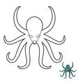 Octopus coloring book Cthulhu kraken underwater vector image
