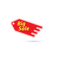 price tag with a big sale sign vector image