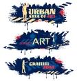 Street Art Horizontal Banners vector image