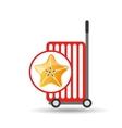 trolley shop juicy star carambola fruit vector image
