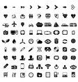 Big set of black universal web icons vector image vector image