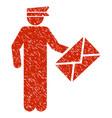 postman grunge icon vector image