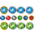 earthbuttons in the form of the planet vector image