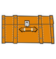 classic suitcase top view vector image vector image