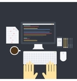 Flat programming pack vector image vector image