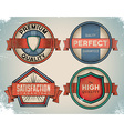 Aged colorful vintage labels vector image