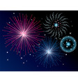 vector fireworks background vector image vector image