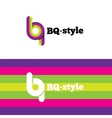 modern abstract logo B and Q letters vector image