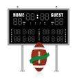 american gridiron scoreboard vector image