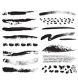 a collection of natural brush strokes vector image
