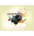 abstract music background with Sound Speaker vector image