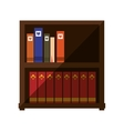 book on shelf wooden shadow vector image