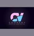 cv alphabet letter join joined letter logo design vector image
