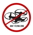 do not flying drone vector image
