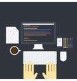 Flat programming pack vector image